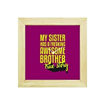 YaYa Cafe 8x8 inches Rakhi Gifts for Brother Wall Clock Fre
