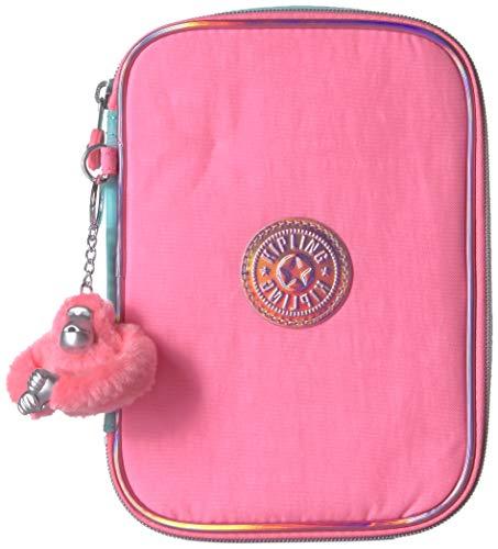 Kipling 100 Pens Pencil, Essential Everyday Case, Zip Closure, Teal Heart Combo