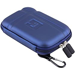 """5"""" Inch Hard Carrying Travel GPS Case Bag Pouch Protective Shell For 5"""" 5.2 Inch Garmin Nuvi 55LM 54LM/54 52LM/52 2597LMT 2577LT 2557LMT 3597LMT TomTom Magellan RoadMate Devices Blue"""