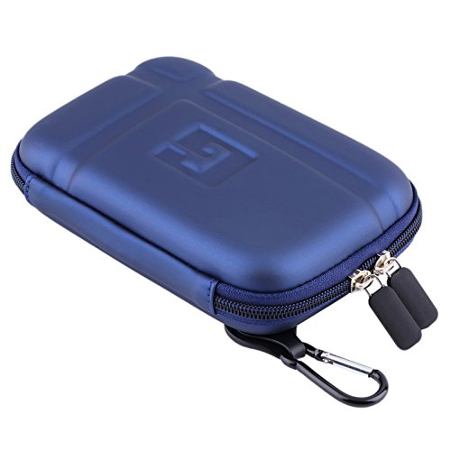 5'' Inch Hard Carrying Travel GPS Case Bag Pouch Protective Shell For 5'' 5.2 Inch Garmin Nuvi 55LM 54LM/54 52LM/52 2597LMT 2577LT 2557LMT 3597LMT TomTom Magellan RoadMate Devices Blue by Teaeshop