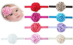 Cozylife Baby\'s Headbands Girl\'s Headwrap Head Wear Flower (9 Pack)