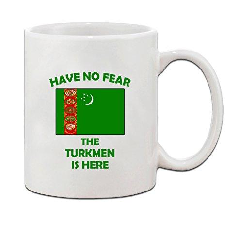 Have No Fear Turkmen Is Here Turkmenistan Turkmens Ceramic Coffee Tea Mug Cup - Holiday Christmas Hanukkah Gift for Men & Women