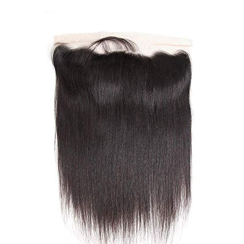 Free Part Ear To Ear Full Lace Frontals 13X4 Straight Unprocessed Brazilian Virgin Remy Human Hair Front Closures With Baby Hair Bleached Knots Natural Color 20 inches
