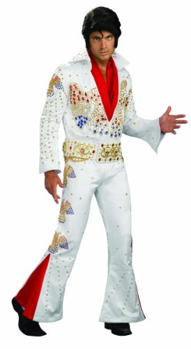 Rubie's Costume Collectors Edition Officially Licensed Elvis Aloha From Hawaii, White, Large Costume