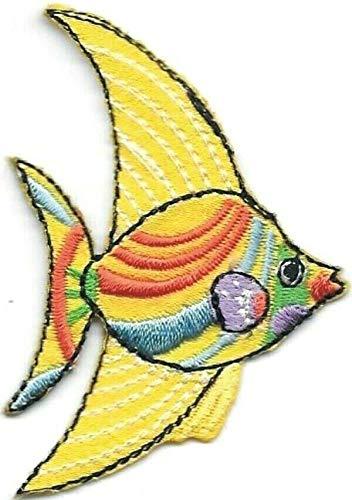 - Yellow Orange Freshwater Cartoon Angel Fish Embroidery Patch