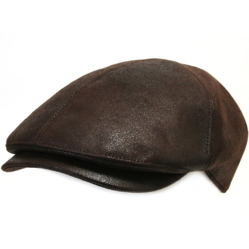 ililily New Men¡¯s Flat Cap Vintage Cabbie Hat Gatsby Ivy Caps Irish Hunting Hats Newsboy with Stretch fit - 001-3,Dark Brown,One size