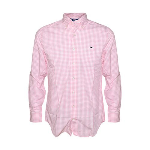 Vineyard Vines Mens Seabrook Gingham Slim Fit Whale Shirt  Conch  X Large