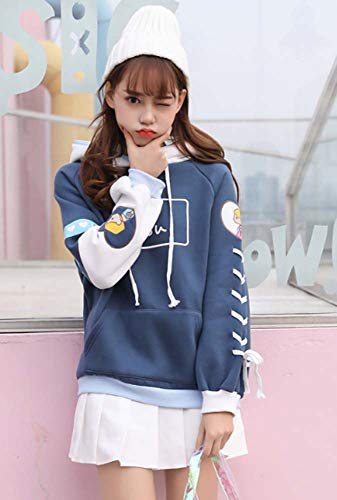 721028353839 Cosplay Anime Bunny Emo Girls Sweater Hoodie Ears Costume Panda Cat Emo  Bear Jacket T Shirt