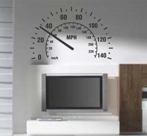 Genuine Speedometer (Dabbledown Decals Speedometer Version 101 Wall Decal Sticker Room Nursery Car Cars Baby Man Garage Speed Fast)