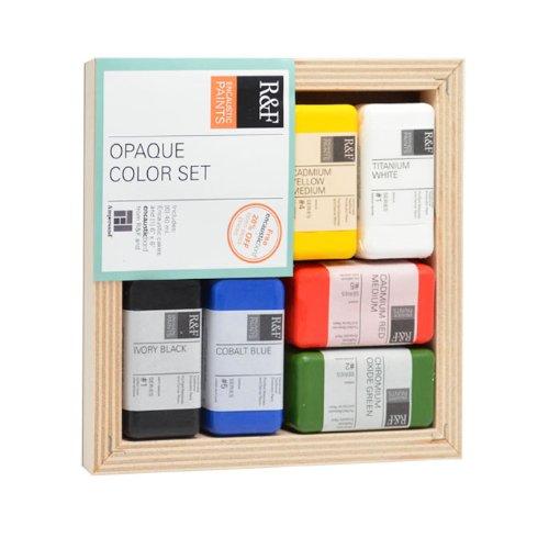 R&F Encaustic Paints Opaque Colors, Set of (Encaustic Wax Art)