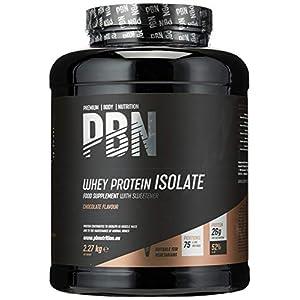 PBN – Premium Body Nutrition – Protéines en poudre à base d'isolat de lactosérum (Whey-ISOLAT), goût chocolat, 75doses, 2,27kg