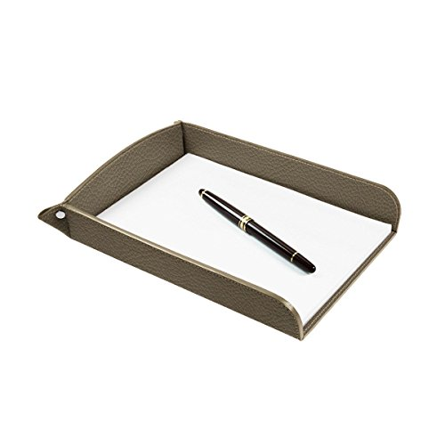 Lucrin USA Inc. A5 Paper Leather Holder, Granulated Cow, Dark Taupe by Lucrin USA Inc.