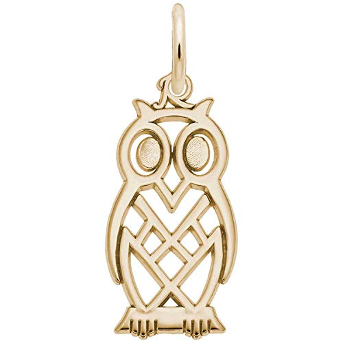 Charm Rembrandt Owl - Rembrandt Charms Owl Charm, 10K Yellow Gold