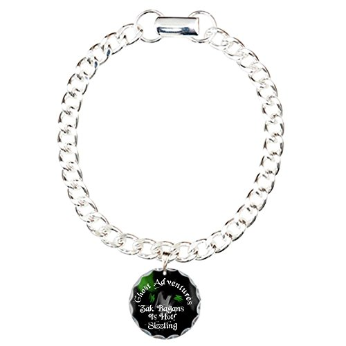 CafePress - Ghost Adventures - Charm Bracelet with Round Pendant (Pendant Down Orb)