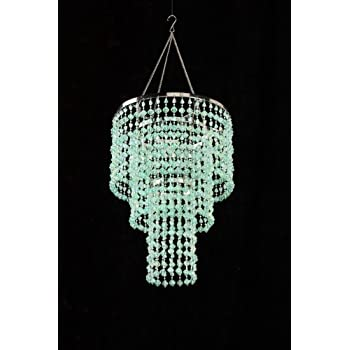 Amazon zappobz hll14 gemstone chandelier mint green home green mint chandelier retro beaded light hanging lamp hll14 gm aloadofball Choice Image