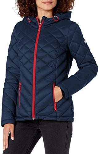 Tommy Hilfiger womens Short Hooded and Quilted Packable Jacket
