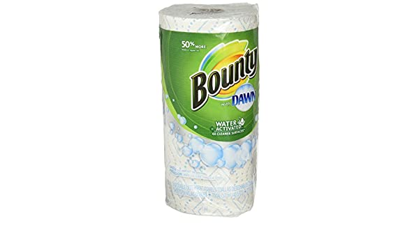 Amazon.com: Bounty Bounty with dawn water-activated multi-purpose cleaning towels, white, 1 giant roll: Health & Personal Care