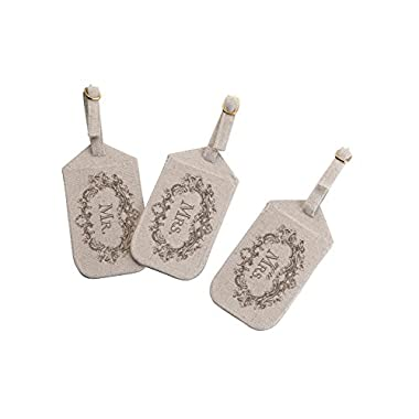 Lillian Rose Mr. and Mrs. Luggage Tags, 8 x 5.75