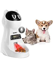 Wopet Automatic Pet Feeder Dog and Cat Feeder Food Dispenser with Timer Programmable, Distribution Alarms, Portion Control,Voice Recording Up to 4 Meals a Day (White)