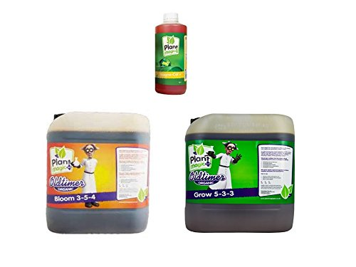 Plant Magic Old Timer Bloom 5 Liter & Old Timer Grow 5 Liter & Plant Magic Magne Cal 1 Liter