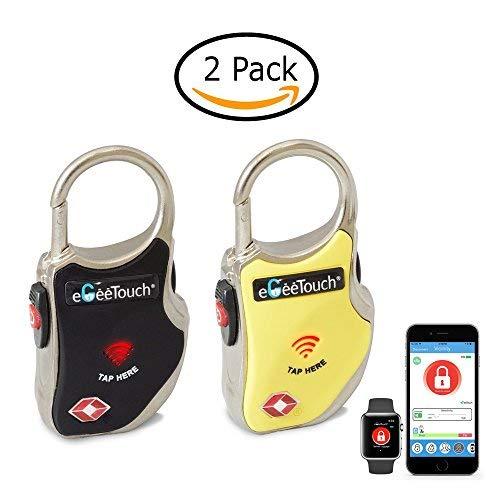 eGeeTouch Smart TSA - Cerradura de viaje para seguridad y seguimiento de tu equipaje en cualquier lugar que vayas...,...