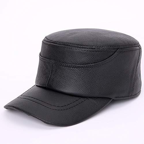 HVTKLN Gorras for Hombres de Cuero Genuino Sombrero de Cuero de ...