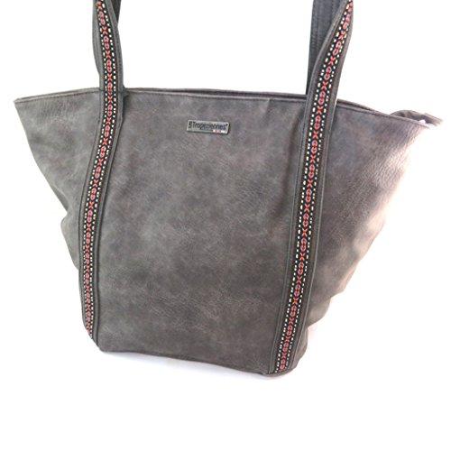 Bolsa creativa 'Les Tropéziennes'gris - 46x33x23 cm.