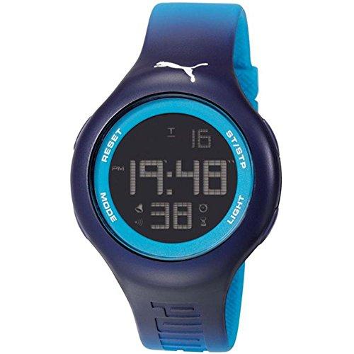 Unisex Puma Loop L Blue Digital Sports Silicone Watch PU910801030