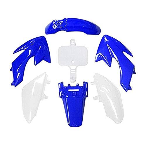 WPHMOTO Plastic Fenders For Honda CRF50 XR50 CRF XR 50 | Dirt Bike Replacement Plastics Fairing Kit Body Parts (Blue&White) (Fairing Body Plastic)