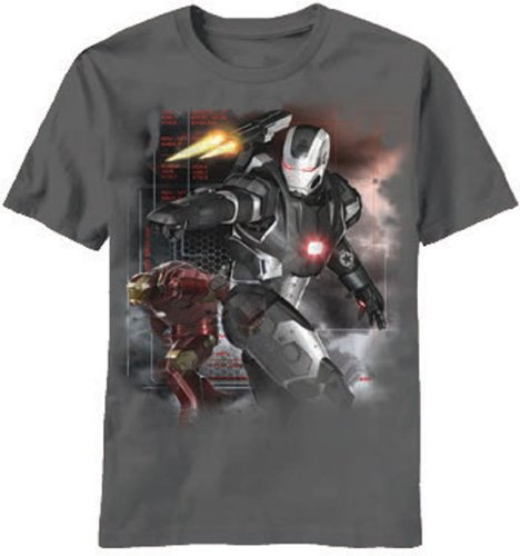 Iron Man 3 Machine Wars Herren Schwarz T-Shirt