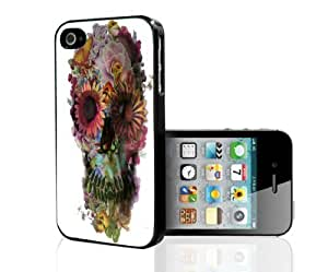 Colorful Floral Skull Hard Snap on Phone Case (iPhone 5/5s) by icecream design
