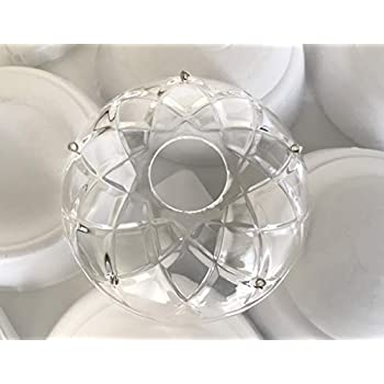 """Set of 12 Asfour Crystal 4 3//8/"""" Bobeches Chandelier Parts Cups No hole"""