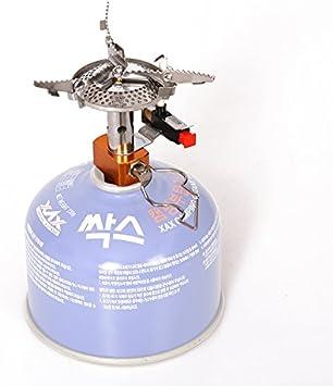 Ecent Mini Estufa de Gas portátil de aleación Ligera de Metal para Camping Cocina Al Aire Libre