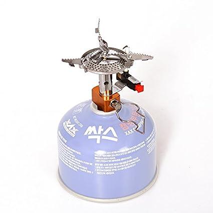 Ecent Mini Estufa de gas portátil de aleación ligera de metal para Camping Cocina Al Aire