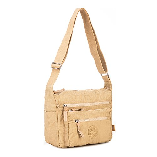 tassen voor Book zak Design Sport mode schooltassen Travel Side Vrouwen Foino schouderband College Messenger Light Beige qCwBHT