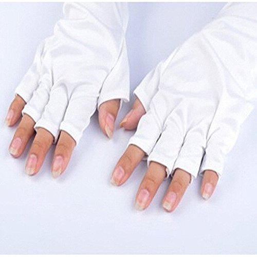 Embiofuels(TM)Anti UV Light Lamp Gloves, Radiation Protection Manicure Nail Art Dryer Tools Hands Skin Protection for Nail Art,one pair