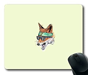 Funny Cool Fox Easter Thanksgiving Personlized Masterpiece Limited Design Oblong Mouse Pad by Cases & Mousepads