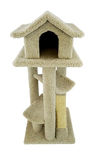 New Cat Condos Premier Large Cat Pagodas Tree, Beige