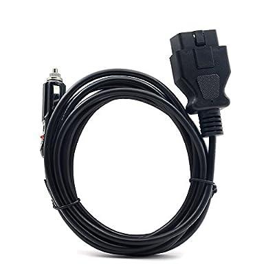 VSTM OBD II Vehicle ECU Emergency Power Supply Cable Memory Saver (3Meter) with Alligator Clip-On 12V Car Battery Cigarette Lighter Power Extension Socket: Automotive