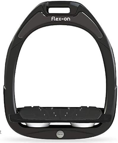 【Amazon.co.jp 限定】フレクソン(Flex-On) 鐙 ガンマセーフオン GAMME SAFE-ON Mixed ultra-grip フレームカラー: ブラック フットベッドカラー: ブラック エラストマー: ホワイト 06616
