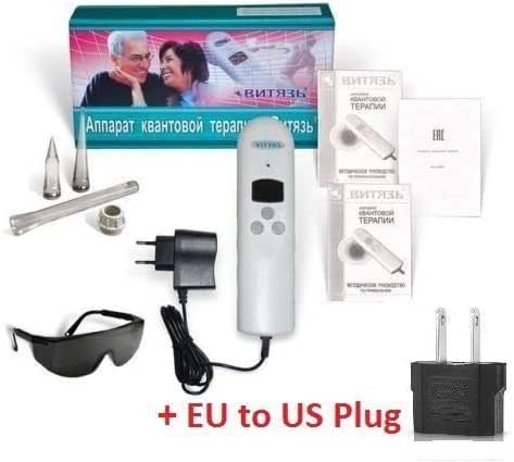 Vityas AQT! Cold Laser for Chiropractic LLL Quantum Therapy Treatment of Abdominal Organs, Skin Diseases, ENT Diseases, Dentistry, Gynecology! +Set Nozzle & Glasses