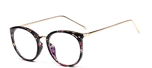 Embryform pierna pantalla gotas vasos traje retro gafas redondas de montura de gafa de bastidor 2081