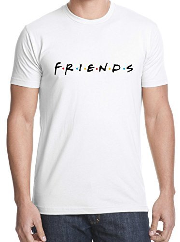 (Uzair Friends TV Show T-Shirts (White,)