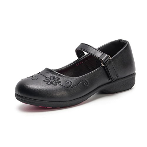 Hawkwell School Uniform Mary Jane Flat (Toddler/Little Kid),Black PU,13 M US