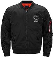 Feim-AO Men Men's Bomber Flight Jacket Metallica, Thick Fashionable for Winter Cold Wea
