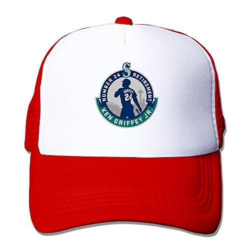 Bekey Ken Griffey Jr. Logo Adjustable Cap Hat Red