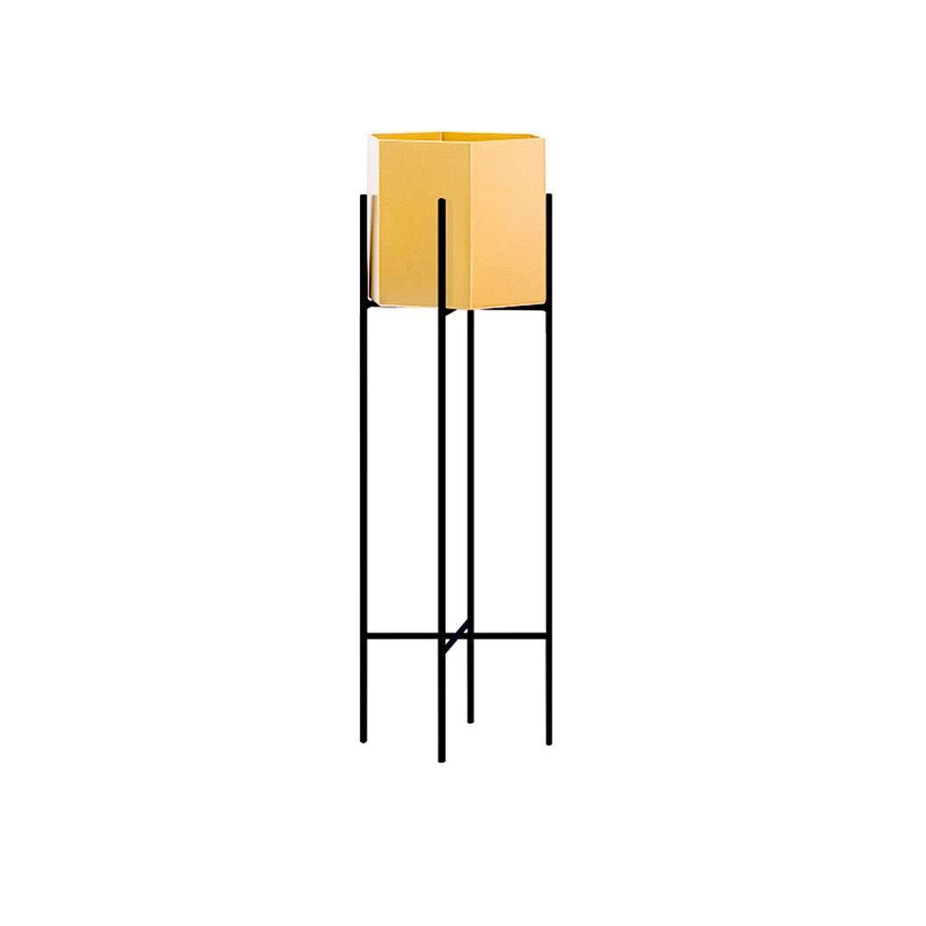 CXQ Nordischer Schmiedeeisen-Blumen-Standplatz-im Freien Innenbalkon Boden-stehendes Metallkreativer Boden-Anlage-Goldener Blumen-Topf-Zahnstange (Size : L)