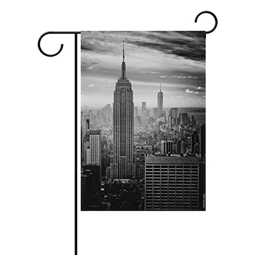 Decorative Flags for Outside Double Sided Welcome Garden Flag with Novelty Graphic New York City for Yard Flags Outdoor - Light Michigan House City