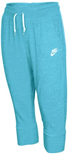 Vintage Baseball Pants - NIKE Big Girls' (7-16) Gym Vintage Casual Capris-Blue-Small