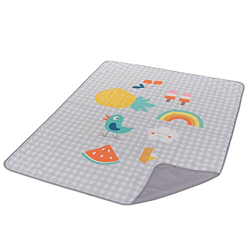 Taf Toys Outdoors Play Mat Perfect for New Born Toddlers, Easier Outdoors and Easier Parenting, Colorfull Illustrations, Large Size, Extra Soft, Water-Proof Base, Washable, Foldable to Carry